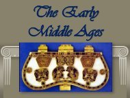THE EARLY MIDDLE AGES - Saint John's High School