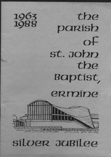 booklet_silver jubilee_1963-1988.pdf - St. John the Baptist Parish ...