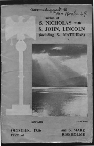 S. NICHOLAS with S. JOHN, LINCOLN - St. John the Baptist Parish ...