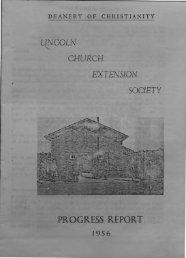 progress report - St. John the Baptist Parish Church. Ermine. Lincoln.