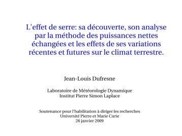 L'effet de serre - LMD - Université Pierre et Marie CURIE