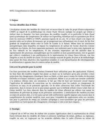 WP2. Compréhension et réduction des biais des modèles 1 ... - LMD