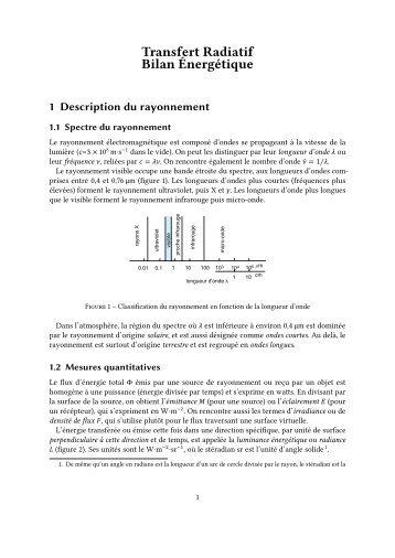 Rayonnement, bilan radiatif - LMD