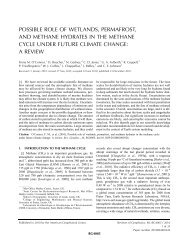 possible role of wetlands, permafrost, and methane hydrates ... - LMD