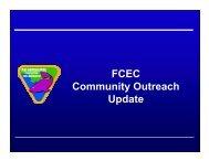 FCEC Community Outreach Update