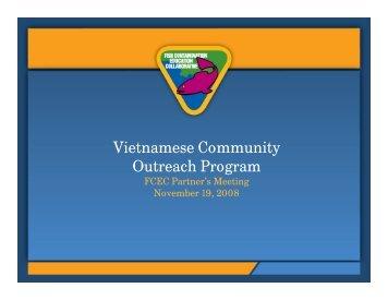 Partners Meeting Presentation: Vietnamese Community Outreach