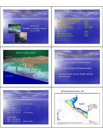 The Palos Verdes Shelf Remedial Investigation Report Remedial ...