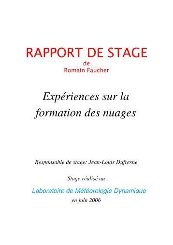 rapport de stage - LMD