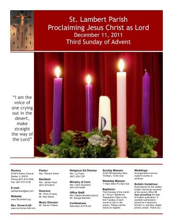 St. Lambert Parish Proclaiming Jesus Christ as Lord