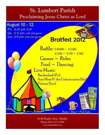 Bratfest 2012 - St. Lambert Parish