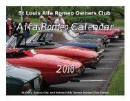 St. Louis Alfisti Calendar 2010 Available Now - St. Louis Alfa Romeo ...