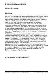 5. Frühschicht Fastenzeit 2013 Thema: Urteilt nicht Einleitung - Kath ...