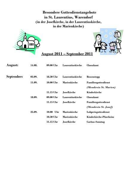 September 2011 - Kath. Kirchengemeinde St. Laurentius in Warendorf
