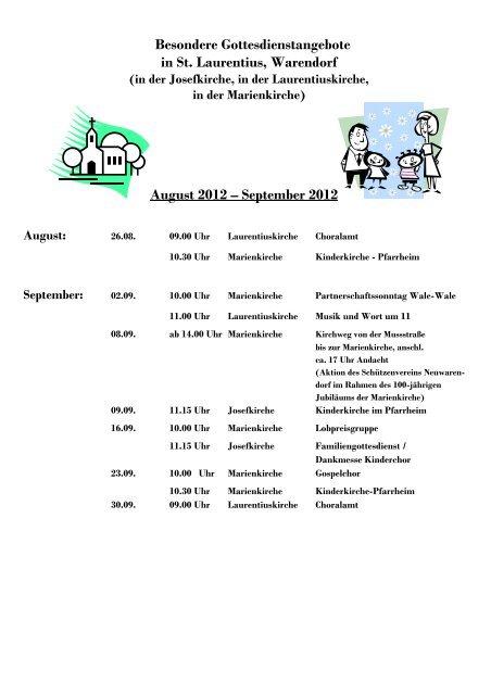 September 2012 - Kath. Kirchengemeinde St. Laurentius in Warendorf