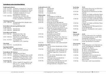 Angebote in der Advents- und Weihnachtszeit 2007-10-19 - Kath ...