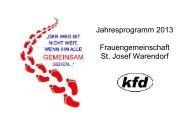 Jahresprogramm 2013 Frauengemeinschaft St. Josef Warendorf
