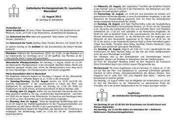 Katholische Kirchengemeinde St. Laurentius Warendorf
