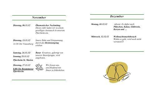 Jahresprogramm 20 Jahresprogramm 2012 - Kath ...
