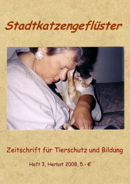 Katzenschützer im Portrait: Berliner Stadtkatzen eV