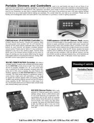 Dimmers & Controllers - Sacramento Theatrical Lighting