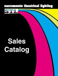 STL Complete Sales Catalog - Sacramento Theatrical Lighting