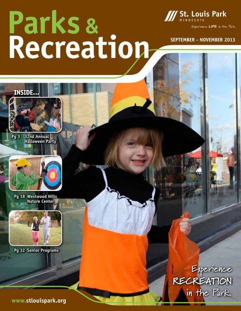 Parks and Rec guide Fall 2013 - City of St. Louis Park