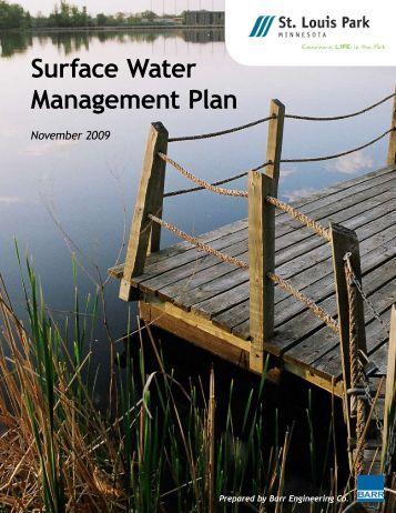 Surface Water Management Plan - City of St. Louis Park