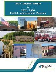 2012 Budget Report - City of St. Louis Park