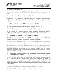 OFFICIAL MINUTES CITY COUNCIL STUDY SESSION ST. LOUIS ...