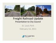 Kenilworth Corridor Alternatives - City of St. Louis Park