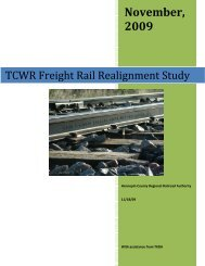 TCWR Freight Rail Realignment Study - City of St. Louis Park