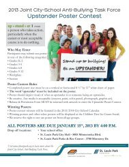 Upstander Poster Contest - City of St. Louis Park