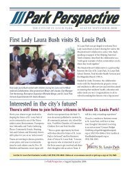 First Lady Laura Bush visits St. Louis Park Interested in the city's ...