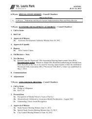 agenda packet - City of St. Louis Park