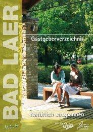 Hotel-Pension - Gemeinde Bad Laer