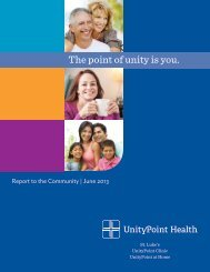 Community Report 2013 - St. Luke's Health System