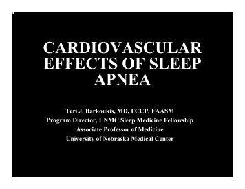 CARDIOVASCULAR EFFECTS OF SLEEP APNEA