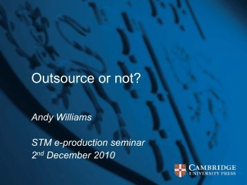 Outsource or not? - STM