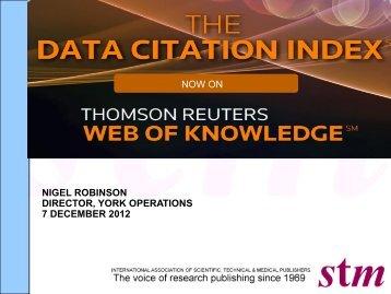 Robinson - Data Citation Index - STM
