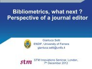 Innovations - Setti - Bibliometrics - STM
