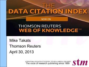 Innovations USA - Takats - The Data Citation Index - STM