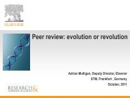 Peer review: evolution or revolution - STM