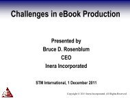 Challenges in ebook production - STM