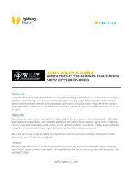 E-production - Lightning Source - Wiley (Case Study) - STM
