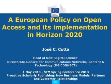 Spring Conference USA - Cotta - A European Policy on Open ... - STM