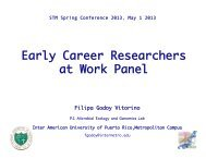 Godoy - Vitorino Early Career Researchers at Work Panel - STM