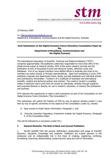 APA STM Submission PSI Consultation