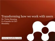 Henning - Transforming How We Work With Users - STM