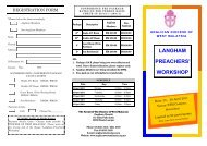 Brochure - Seminari Theoloji Malaysia