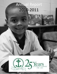 Annual Report 2010-2011 - St. Malachi Center